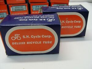 "~ 2 New S.N. 27 x 1-1/4"" (700 x 28-32c) Bicycle Inner Tubes Schrader Valve ~"
