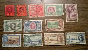 Brit America - Brtitsh Honduras -  # 59 to # 149, MR1 - inc. # 130 : 27 stamps