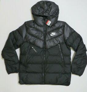 Nike Sportswear Windrunner Down Fill Puffer Hoodie Jacket 928833-010 large
