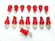 15 BRIGHT Red LEDs Side Marker Instrument Panel Dash Lights Bulbs Domes Mopar