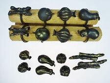 Pottery Barn Vegetable Veggie 8 Napkin Rings & 8 Placecard Holders