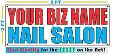 Custom Name Nail Salon Banner Sign New Larger Size