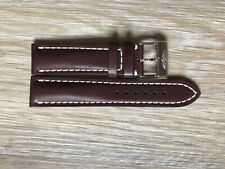 New Current Model Breitling 22mm 437X Brown Calf Leather Watch Strap & Buckle