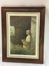 Vintage Adolf Sehring Summer Daydream Artist Signed Litho Print Collectible Art