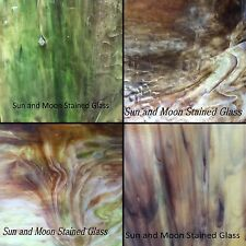 KOKOMO Stained Glass Sheet Pack #3 (4 Sheets of 8X8) HIGH QUALITY SHEET GLASS