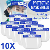 10x Full Face Shield Cover Clear Glasses Eye Protector Anti-Saliva Fog Industry
