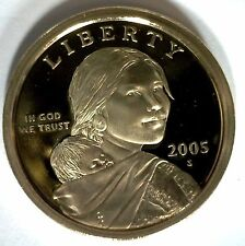 2005 -S SACAGAWEA Golden Dollar Native American PROOF Coin US Mint MADE IN USA