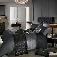 Designer Kylie Minogue ISLA Black/Slate Grey Bed Linen Bedding Duvet Cover New