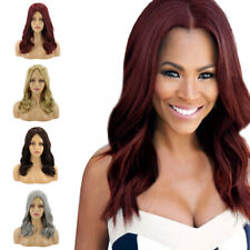 4 Colors 21'' Middle Long Wavy Curly Wigs Women Synthetic Evening Party Hair Wig