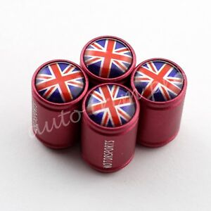 Accessories Car Wheel Air Tire Tyre Valve Cap Holder Cover United Kingdom Flag