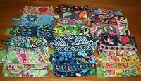 Vera Bradley SMALL COSMETIC case travel bag makeup pouch 4 tote purse RARE HTF