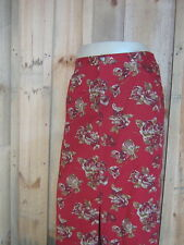 New NWOT Sag Harbor red brown floral flowers toile full skirt extra large xl