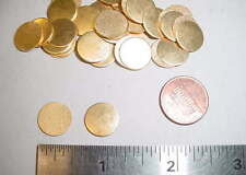 """1/2"""" Round Frosted Back Blank Jewelry Findings - Ideal for stamping - 36 pcs"""