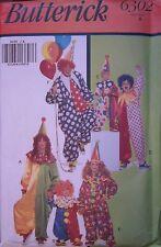 6302 Vintage Butterick SEWING Pattern Child Adult Clown Halloween Costume UNCUT