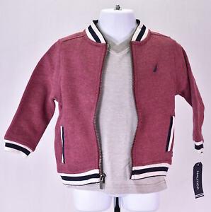 Baby Boy's  Nautical N130G36Q 3 piece set Baseball Jacket,Tee, & jeans - Red