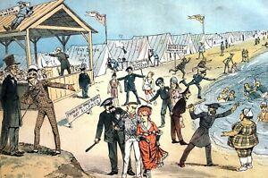 Modern REVIVAL Camp Meeting 1882 GUARANTEED SAFE NO SEX INTERACTIONS Puck Print