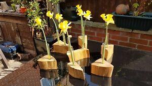 Handmade Wooden Single Flower holder