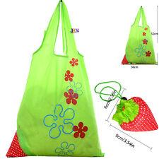 3x pieghevole eco Shopping Borsa da Viaggio Riutilizzabile Fragola Sacchetto Tote Handbag