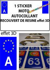 1 sticker plaque immatriculation MOTO DOMING 3D RESINE AUTRICHE A