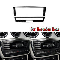 Carbon Fiber Central CD Panel Decorative Trim For Mercedes Benz A/B/GLA 2013-18