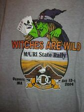 Harley Owner's Group H O G state rally MA RI Dunver's MA 2004 gray L t shirt