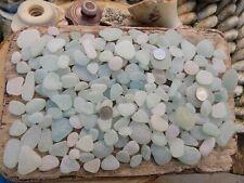 ENGLISH SEA GLASS 1KG MIX SMOOTH FROSTED SEAGLASS AQUA SEAFOAM JQ PENDENTS