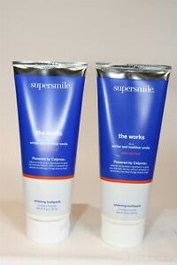Supersmile The Works Mint Whitening Toothpaste 8 oz x 2 Piece Bundle Lot NEW