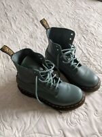 Dr. Martens Pascal 1460 Virginia Leather Boots for Women, Size US 6 - Blue