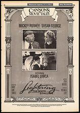 CANNON MOVIE TALES__Original 1986 Trade AD promos__LIGHTNING, THE WHITE STALLION