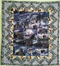 Quilted Handmade Beautiful Wall Hanging Topper Art Decor Quilt 48.5 x 42.5