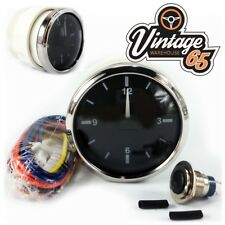 Classic Car Chrome 52mm Dashboard Analogue Time Clock 12v OE Style MG Mini Tr6