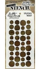 NEW! Splotches Design Layering Stencil -Stampers Anonymous Tim Holtz Collection