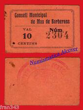 Billet local PLUS DE BARBERANS 10 Centimes MBC / VF