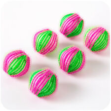 6Pcs ECO Laundry Balls Fabric Pet Hair Remove Washing Machine Clothes Cleaning