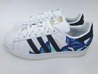Adidas Originals Superstar Floral Embroidery Black White B28014 Women Size 10