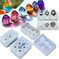 Sphere Ball Egg Shape DIY Silicone Mold For Resin Casting Jewelry Making Moulds