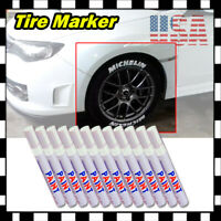12x White Tire Permanent Paint Marker Pen Car Tyre Rubber Universal Waterproof U