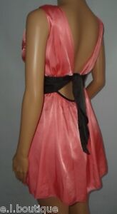VICKY MARTIN pink black backless open back mini dress summer party BNWT 8 10
