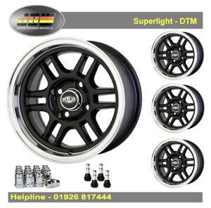 7x 13 Superlight DTM Wheels Classic Mini 1959-2001 Set of 4 Black