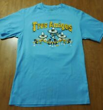 TRES AMIGOS restaurant #22 small tee polyester T shirt Tex-Mex Michigan