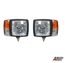 Pair For JCB Telehandler Loader Loadall Head Lights Lamps Headlamp Indicator