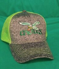 54acefe890821 Philadelphia Eagles Hat Melange Structured Neon Green Trucker Mesh Snap Hat