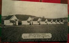 Old Ligonier PA. Colonial Cabins Maude Patterson Lincoln Highway Postcard Repo