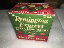 Vintage Empty 12 Ga. Remington Express Extra Long Range Shotgun Shell Box!