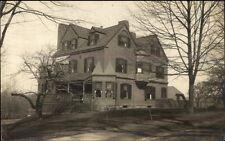 Beautiful Home - Medford MA Cancel 1914 Real Photo Postcard