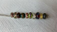 Authentic Trollbeads & Other Lot Of 10 Beads Gorgeous Set Of Beads