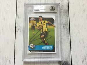 Christian Pulisic Signed SI Kids Card Beckett BAS BGS Slabbed Encapsulated b