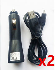 2x Car Charger Data Cable for HTC One M9 M8 M7 Max Desire 820 816 626 610 520