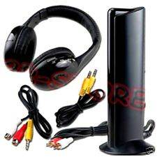 CUFFIE WIRELESS 5 IN 1 ASCOLTARE STEREO RADIO TV MP3 CD PC SKYPE WIFI SENZA FILI