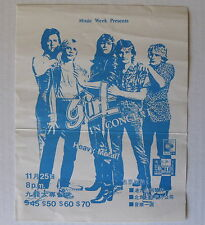 Girl In Concert Tokyo Japan 1980 Concert Flyer Pre-Def Leppard Phil Collen Glam!